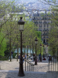 Looking Down the Famous Steps of Montmartre, Paris, France, Europe Photographic Print by Nigel Francis