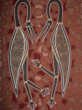 Paintings from the Dreamtime Including Two Birds, Australia, Pacific Photographic Print by Dominic Harcourt-webster