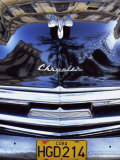 Classic Black Chrysler Car with Reflections in Paintwork, Havana, Cuba, West Indies Photographic Print by Lee Frost