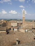 View of the Piazza Del Campo and the Palazzo Pubblico, Siena, Tuscany, Italy Photographic Print by Robert Harding