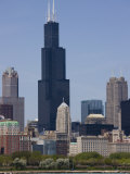 Sears Tower and Skyline, Chicago, Illinois, United States of America, North America Photographic Print by Amanda Hall