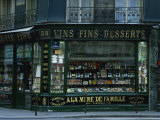 Wine Shop Facade, Paris, France, Europe Photographic Print by Nigel Francis