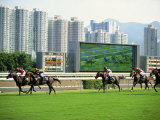 Horse Racing in Hong Kong, China Photographic Print by Tim Hall