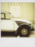 Polaroid of Old Black and White Citroen 2Cv Parked on Street, Paris, France, Europe Photographic Print by Lee Frost