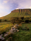 Benbulben at Sunset, Approximately 500M, Near Sligo, County Sligo, Connacht, Republic of Ireland Photographic Print by Patrick Dieudonne