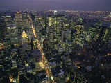 Aerial View at Night of the City Lights Taken from the Empire State Building, New York, USA Photographic Print by Nigel Francis