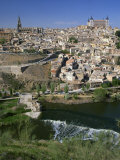 River Below the City of Toledo in Castilla La Mancha, Spain, Europe Photographic Print by Nigel Francis