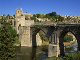 Old Gateway Bridge over the River and the City of Toledo, Castilla La Mancha, Spain, Europe Photographic Print by Nigel Francis