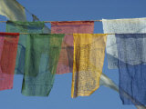 Close-Up of Prayer Flags at Swayambunath, Kathmandu, Nepal Photographic Print by James Green