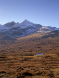 Cottage and Sgurr Nan Gillean, 964M, Black Cuillins Range Near Sligachan, Isle of Skye, Scotland Photographic Print by Patrick Dieudonne
