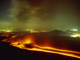 Lava Flow from the Monti Calcarazzi Fissure on the Flank of Mount Etna in 2001 Sicily, Italy Photographic Print by Robert Francis