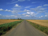 Country Road Through Fields in Fenland Near Peterborough, Cambridgeshire, England, United Kingdom Photographic Print by Lee Frost