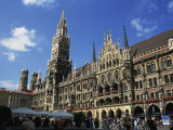 New City Hall, Marienplatz, Munich, Bavaria, Germany, Europe Photographic Print by Ken Gillham