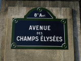 Avenue Des Champs Elysees Street Sign, Paris, France, Europe Photographic Print by Nigel Francis