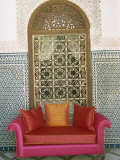 Sofa in Courtyard of Riad Enija, the Medina, Marrakech, Morocco, North Africa, Africa Photographic Print by Lee Frost