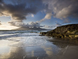 Isle of Rum from Singing Sands, Isle of Eigg, Inner Hebrides, Scotland, UK Photographic Print by Lee Frost