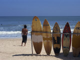 Surfboards Waiting for Hire at Kuta Beach on the Island of Bali, Indonesia, Southeast Asia Fotografisk trykk av Harding Robert