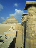 Step Pyramid of the Pharaoh Zoser, at Saqqara, UNESCO World Heritage Site, Egypt Photographic Print by Nigel Francis