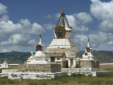 Stupas at the Erdeni Dzu Monastery at Karakorum, Mongolia, Central Asia Photographic Print by Ursula Gahwiler
