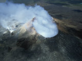 Pu'U O'O Cinder Cone, Kilauea Volcano, Big Island, Hawaii, Hawaiian Islands, USA Photographic Print by Robert Francis