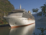 Cruise Ship Berthed at Flaams, Fjordland, Norway, Scandinavia, Europe Photographic Print by James Emmerson