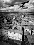 Infra Red Image of Siena across Piazza Del Campo from Tower Del Mangia, Siena, Tuscany, Italy Photographic Print by Lee Frost