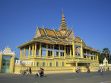 Motorbikes and Bicycles Passing the Royal Palace in Phnom Penh, Cambodia, Indochina, Southeast Asia Photographic Print by Tim Hall