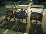 Parked Becaks, Bogor, West Java, Indonesia, Southeast Asia Photographic Print by Robert Francis
