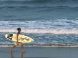 Boy Surfing at North Beach, Indian Ocean, Durban, Kwazulu-Natal, South Africa, Africa Photographic Print by Alain Evrard