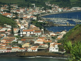 View from Monte De Guia of Horta, Faial, Azores, Portugal, Atlantic, Europe Photographic Print by Ken Gillham