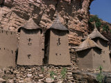 Grain Stores in Irelli Village, Bandiagara Escarpment, Dogon Area, Mali, West Africa Photographic Print by Ian Griffiths