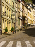 Street Scene of Cafe and Houses in the Valley Village of Grund, Luxembourg, Europe Photographic Print by Tim Hall