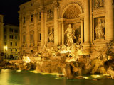Trevi Fountain Illuminated at Night in Rome, Lazio, Italy, Europe Photographic Print by Nigel Francis