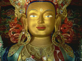 Statue of Maitreya, Tikse Gompa, Ladakh, India Photographic Print by James Gritz