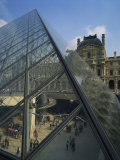 Pyramide and Palais Du Louvre, Musee Du Lourve, Paris, France, Europe Photographic Print by Nigel Francis