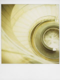 Polaroid of View Looking Down on Spiral Staircase in the Louvre Museum, Paris, France, Europe Photographic Print by Lee Frost
