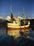 Fishing Boat, Arctic Norway, Scandinavia, Europe Photographic Print by Dominic Harcourt-webster