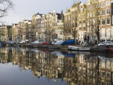Houses Reflecting in the Singel Canal, Amsterdam, Netherlands, Europe Photographic Print by Amanda Hall