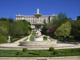 Fountain and Gardens in Front of the Royal Palace, in Madrid, Spain, Europe Photographic Print by Nigel Francis