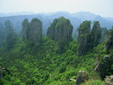 Zhangjiajie Forest Park in Wulingyuan Scenic Area in Hunan Province, China Photographic Print by Robert Francis