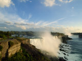 American Falls with the Horseshoe Falls Behind, Niagara Falls, New York State, USA Photographic Print by Robert Francis