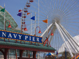 Navy Pier Ferris Wheel, Chicago Illinois, United States of America, North America Photographic Print by Amanda Hall