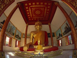 Giant Seated Buddha Statue Haripoonchai Wat in Lamphun, Thailand, Southeast Asia Photographic Print by Dominic Harcourt-webster