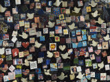 9/11 Messages on Tiles on Fence in Greenwich Village, Manhattan, New York, New York State, USA Photographic Print by Robert Harding