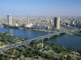 City Skyline with the 6th October Bridge over the River Nile, from the Cairo Tower, Cairo, Egypt Photographic Print by Nigel Francis