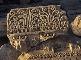 Fragment of Well Preserved Carving, Baalbek, UNESCO World Heritage Site, Lebanon, Middle East Photographic Print by Fred Friberg