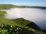 Cloud in Crater, Caldeira, Faial, Azores, Portugal, Europe Photographic Print by Ken Gillham