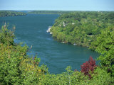 Niagara River Flowing Between Lakes Erie and Ontario from Queenstown Heights, Ontario, Canada Photographic Print by Robert Francis