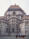 Buggy in Front of the Duomo, Florence, UNESCO World Heritage Site, Tuscany, Italy, Europe Photographic Print by James Gritz