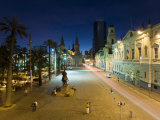Elevated Dusk View over Plaza De Armas to Santiago Cathedral, Santiago, Chile, South America Photographic Print by Gavin Hellier